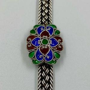 Vintage Middle Eastern Silver Bracelet 8 Inches